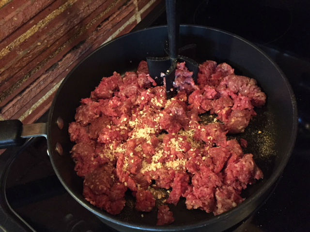 the ground beef