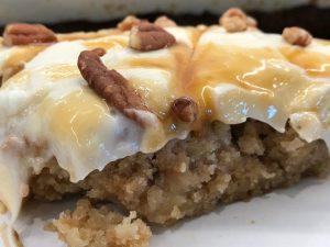 dense, moist apple cake