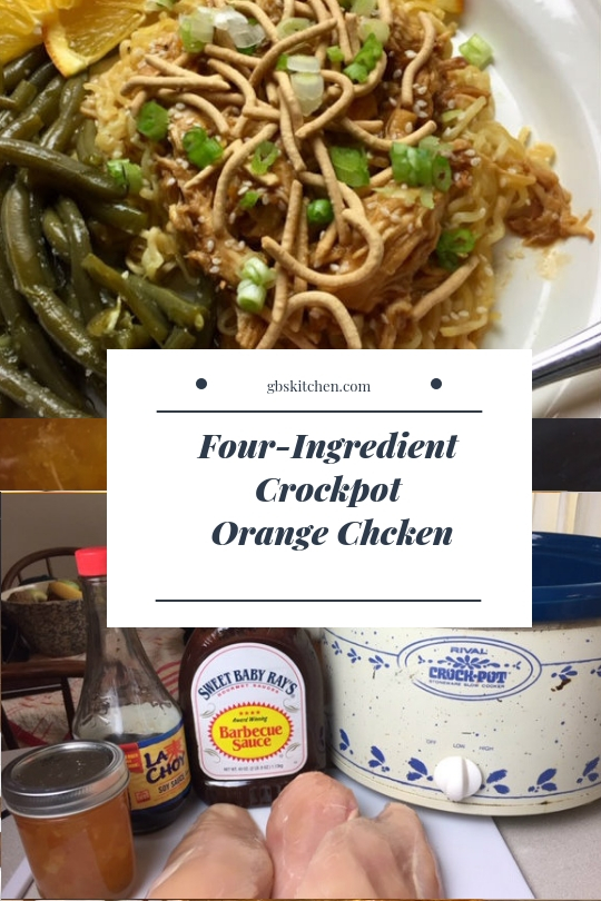 Four-Ingredient Crockpot Orange Chicken
