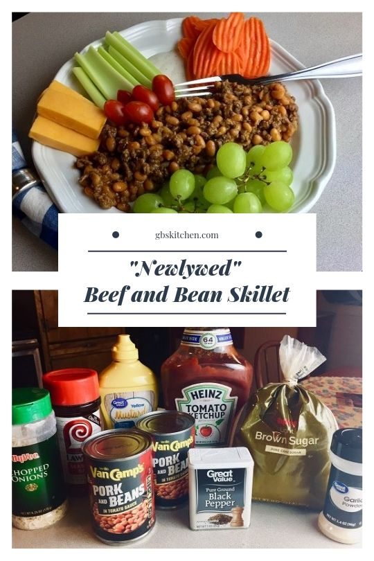 newlywed beef and bean skillet