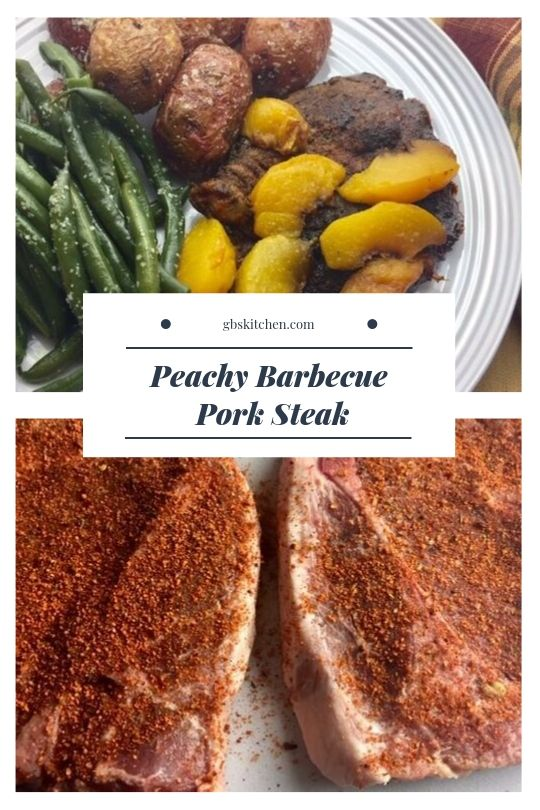 peachy pork steak