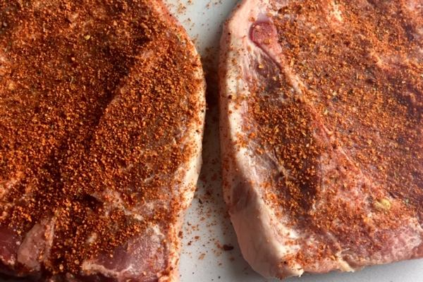 pork steak with rub