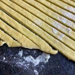 noodles cut in strips