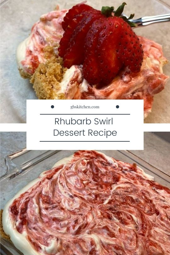 rhubarb swirl dessert