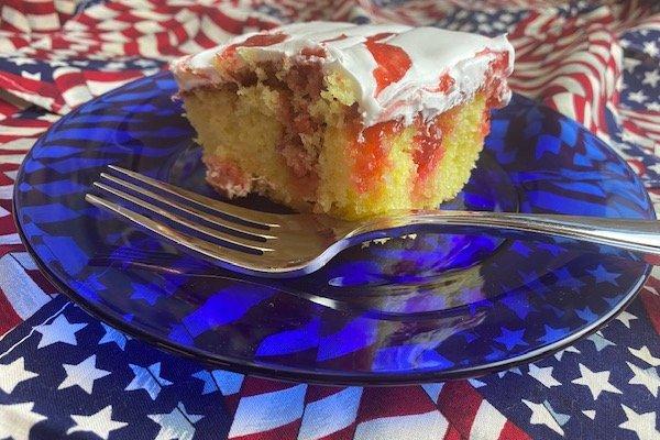 rhubarb poke cake