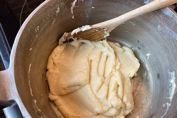 cream puff dough step 1