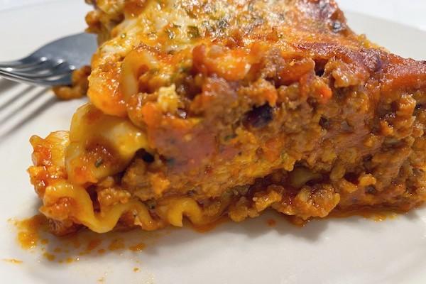 one serving lasagna