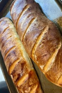 long slim sourdough loaves