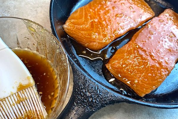 brush glaze on salmon