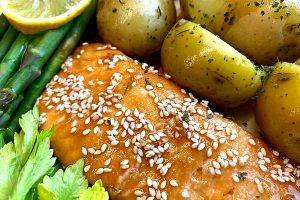fastest glazed salmon dinner