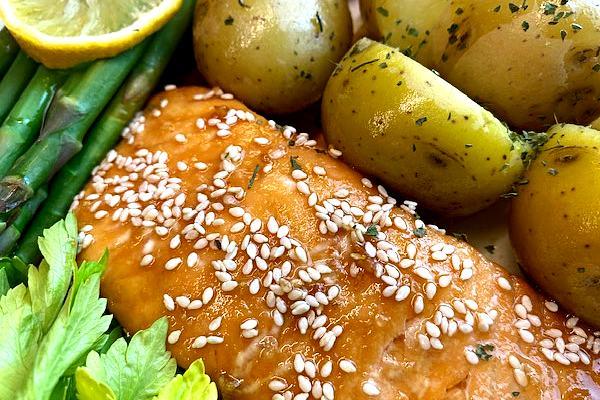 fastest glazed salmon dinner