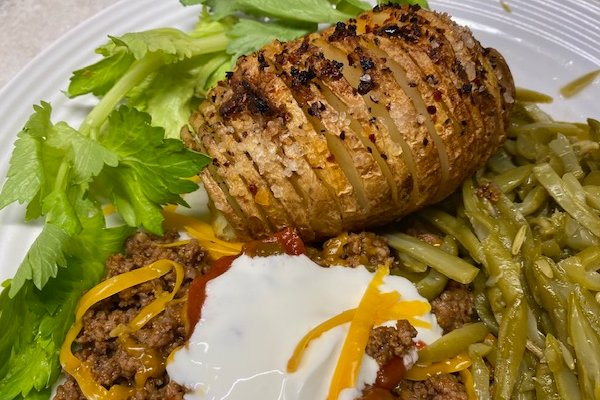 another version of Hasselback potatoes