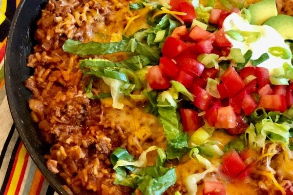 fast and fabulous taco beef and rice