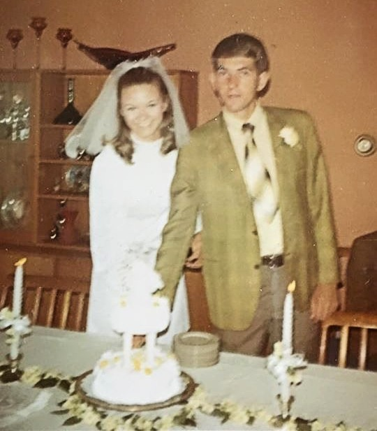 wedding day 1970