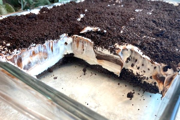 4-layer chocolate dessert